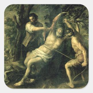 The Martyrdom of St. Bartholomew 2 Square Sticker
