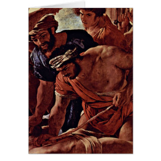 The Martyrdom Of St. Erasmus By Nicolas Poussin Greeting Card
