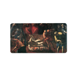 The Martyrdom of St. Lazarus by Tintoretto Address Label