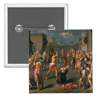 The Martyrdom of St.Paul 15 Cm Square Badge
