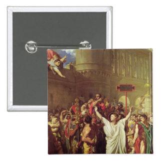 The Martyrdom of St. Symphorien, 1834 15 Cm Square Badge