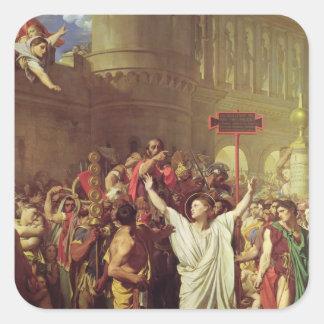 The Martyrdom of St. Symphorien, 1834 Square Sticker