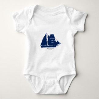 The Mary Celeste 1872 by tony fernandes Baby Bodysuit