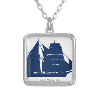 The Mary Celeste 1872 by tony fernandes Silver Plated Necklace