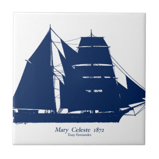 The Mary Celeste 1872 by tony fernandes Tile