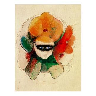 The Masked Anemone by Odilon Redon Postcard