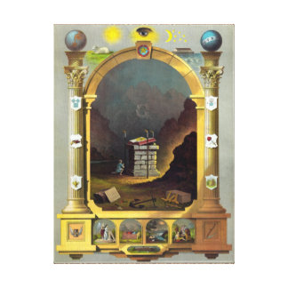 The Masonic Chart Gallery Wrapped Canvas