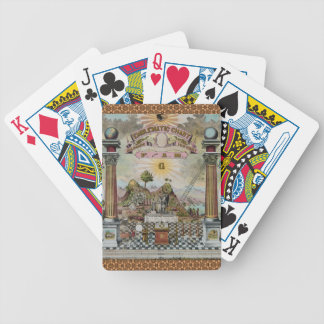 The Masonic Chart Bicycle Poker Cards