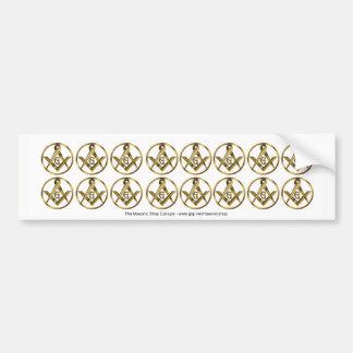 The Masonic Circle Cut ups Bumper Sticker