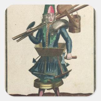 The Mason's Costume Square Sticker