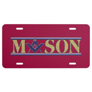 The Masons Tags License Plate