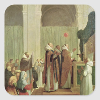 The Mass of St. Martin of Tours, 1654 Square Sticker