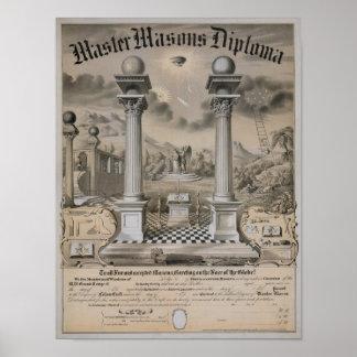 The Master Mason Diploma Poster