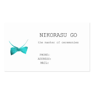 the master of ceremonies pack of standard business cards