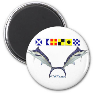 The Masterfull Marlin Jumping Gamefish 6 Cm Round Magnet