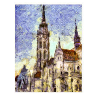 The Mathias Church Budapest Art Postcard