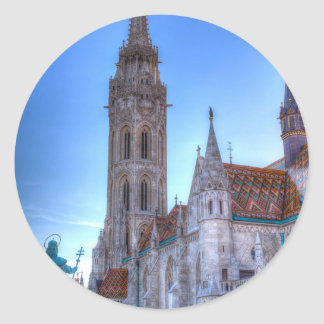 The Mathias Church Budapest Classic Round Sticker