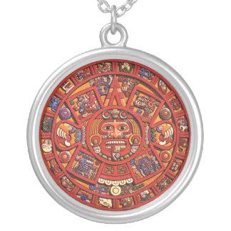 The Mayan Calendar Round Pendant Necklace