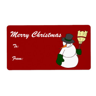 The mayor - Merry Christmas Tags Shipping Label