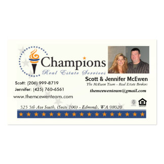 The McEwen Team card (Champions Real Estate) Business Card Templates