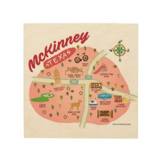 The McKinney Texas Wall Plaque Wood Print
