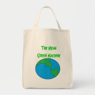 The Mean Green Machine Grocery Tote Bag
