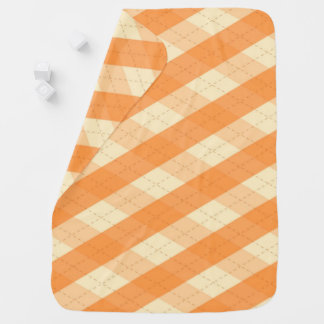 The MeanClique Orange Argyle Baby Blanket