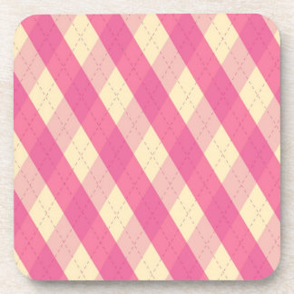 The MeanClique Pink Cork Coaster
