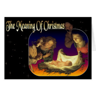 """The Meaning of Christmas"" Deluxe Holiday Card"
