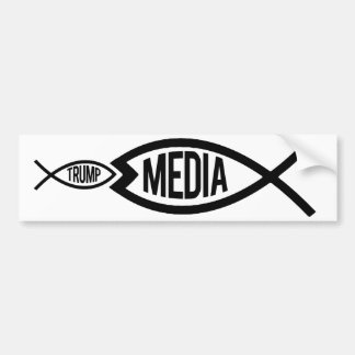 The Media is greater than Trump - Resistance Bumpe Bumper Sticker