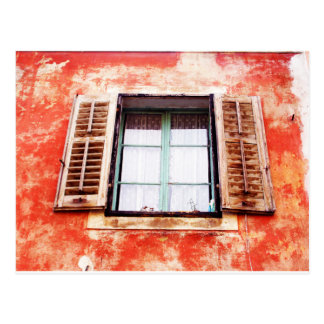 The mediteranean window postcard