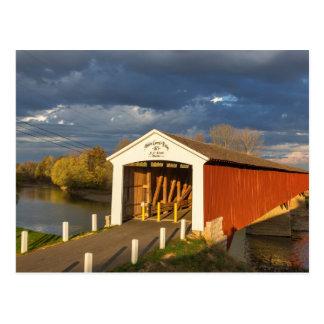The Medora Covered Bridge Built In 1875 Postcard