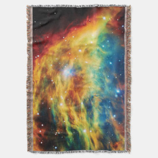 The Medusa Nebula Hubble Outer Space Photo Throw Blanket