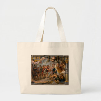 The Meeting of Abraham and Melchizedek Rubens Art Large Tote Bag