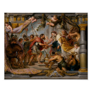 The Meeting of Abraham and Melchizedek Rubens Art Poster