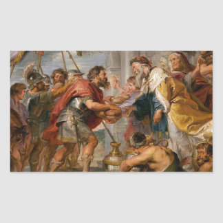 The Meeting of Abraham and Melchizedek Rubens Art Rectangular Sticker