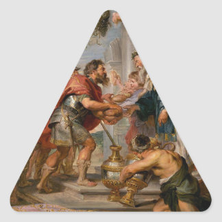 The Meeting of Abraham and Melchizedek Rubens Art Triangle Sticker