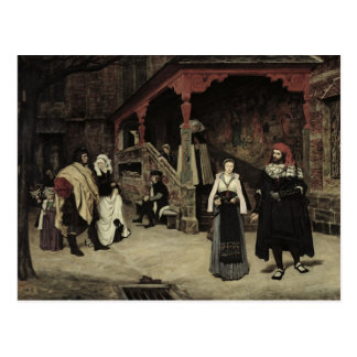 The Meeting of Faust and Marguerite, 1860 Postcard