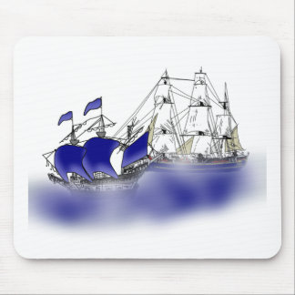 The Meeting of Two Tall Ships Mousepad