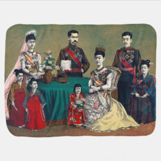 The Meiji Emperor of Japan and the Imperial Family Pram blankets