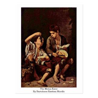 The Melon Eater By Bartolome Esteban Murillo Postcard