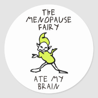 The Menopause Fairy Classic Round Sticker