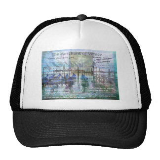 The Merchant of Venice Shakespeare quotes Mesh Hat