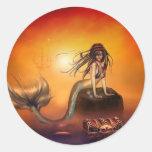 The Mermaids Treasure Round Stickers