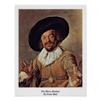 The Merry Drinker By Frans Hals Poster
