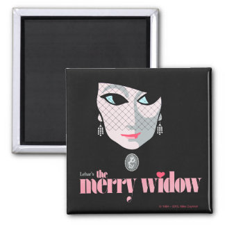 The Merry Widow! Opera Square Magnet