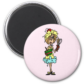 The Messy Cook T-shirts and Gifts 6 Cm Round Magnet