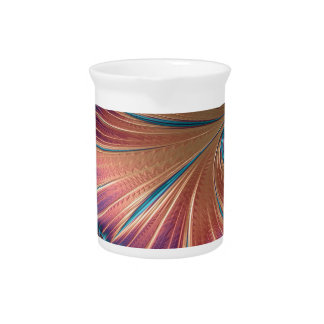 The Metamorphosis of Love Fractal Abstract design Pitcher