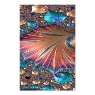 The Metamorphosis of Love Fractal Abstract design Stationery