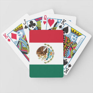 The Mexican national flag - Authentic high quality Bicycle Playing Cards